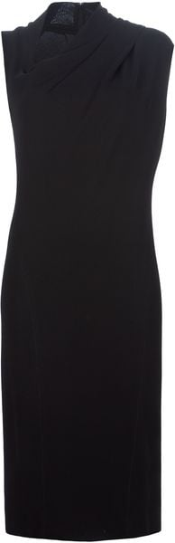 Donna Karan New York Asymmetric Neck Dress - Lyst