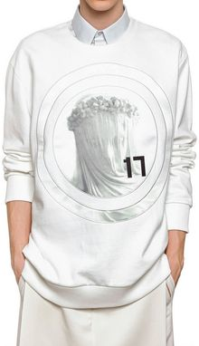 Givenchy Madonna Satin Cotton Fleece Sweatshirt - Lyst