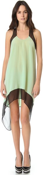 Mason by Michelle Mason Colorblock Trapeze Dress - Lyst