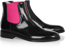 Christopher Kane Fluoro Polished Leather Chelsea Boots - Lyst