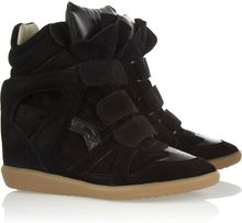 Isabel Marant The Bekket Leather and Suede Sneakers - Lyst