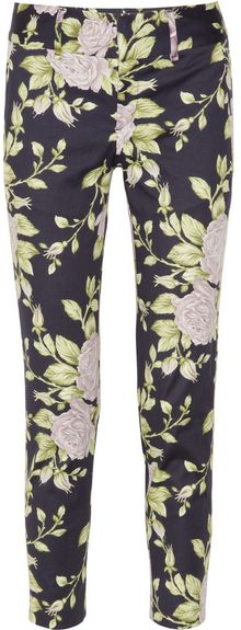 Rag & Bone Malin Floral-Print Cotton-Blend Pants - Lyst