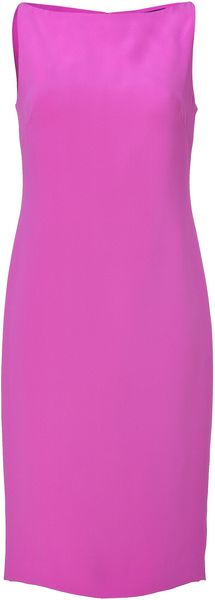 Ralph Lauren Collection Hyacinth Silk Cady Charisse Dress - Lyst