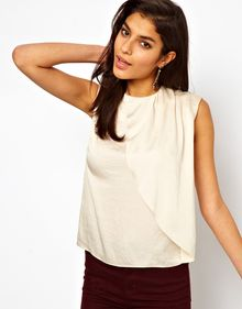 ASOS Collection Top with Asymmetric Drape Front - Lyst