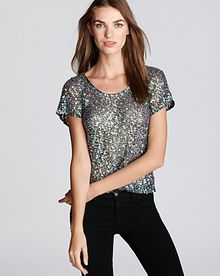 Parker Top Iridescent Sequin - Lyst