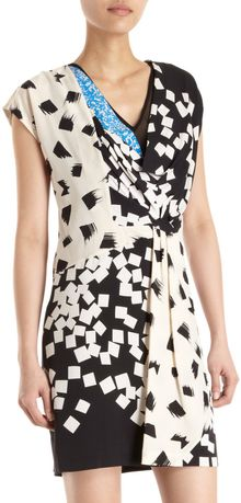 Diane Von Furstenberg Print Wrap Dress - Lyst