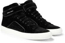 Pierre Hardy Velvet High Top Sneakers - Lyst