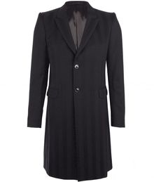Alexander McQueen Black Single Breasted Tailored Coat - Lyst