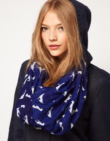 Asos Dog Print Snood - Lyst