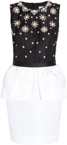 Jason Wu Embellished Peplum Dress - Lyst