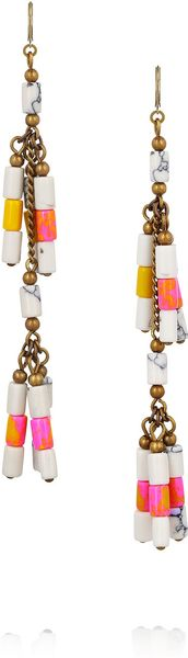 Isabel Marant Howlite Beaded Earrings - Lyst
