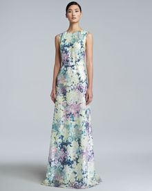 Erdem Jane Long Floral-Print Dress - Lyst