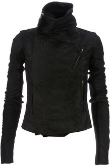 Rick Owens Distressed Biker Jacket - Lyst