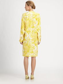 Stella McCartney Silk Floral Shirtdress - Lyst