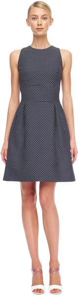 Michael Kors Dotted Jacquard Dress - Lyst