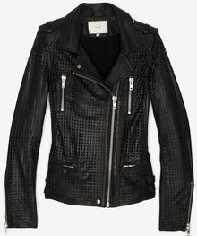 Iro Perforated Leather Jacket - Lyst