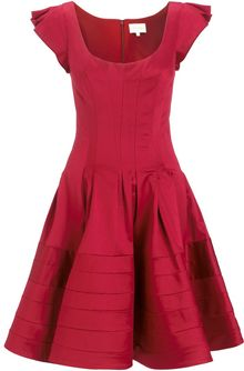 Zac Posen Flared Dress - Lyst