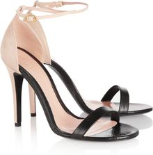 Alexander McQueen Leather and Suede Sandals - Lyst