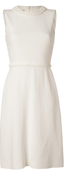 Valentino Ivory Braid Embellished Dress - Lyst