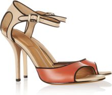 Givenchy Colorblock Leather Sandals - Lyst