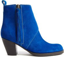 Acne Pistol Shorts Side Zip Suede Ankle Boot - Lyst