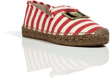 Marc Jacobs Redcream Striped Slipperstyle Espadrille Loafers - Lyst