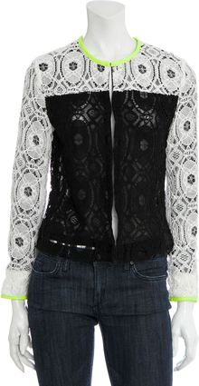 Scoop Lace Colorblock Jacket - Lyst