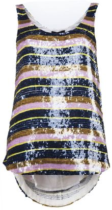 Suno Sequined Stripe Tank - Lyst
