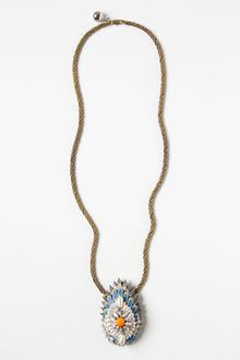 Anthropologie Jeweled Plumes Necklace - Lyst