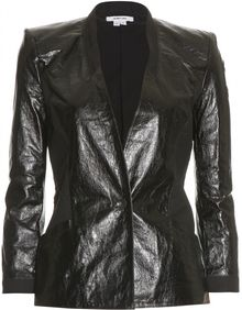 Helmut Lang Textured Leather Blazer - Lyst