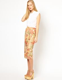 ASOS Collection Asos Pencil Skirt in Floral Jacquard - Lyst
