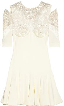 Alexander McQueen Embellished Crepe Dress - Lyst