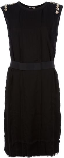 Lanvin Embellished Sleeveless Dress - Lyst