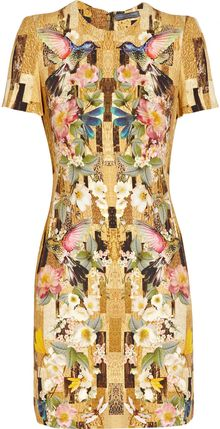 Alexander McQueen Printed Cady Dress - Lyst