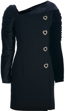 Gianni Versace Vintage Structured Buttoned Dress - Lyst