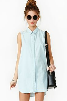 Nasty Gal Colleen Chambray Shirt - Lyst
