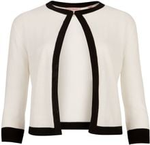Ted Baker Llima Cropped Knitted Cardigan - Lyst