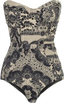 Zimmermann Collision Underwired Printed Swimsuit - Lyst