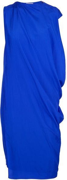 Lanvin Asymmetric Dress - Lyst
