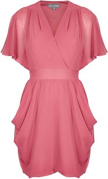 Topshop Drape Sleeve Dress  - Lyst