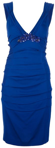 Roberto Cavalli Fitted Sleeveless Dress - Lyst