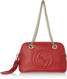 Gucci Soho Texturedleather Shoulder Bag - Lyst