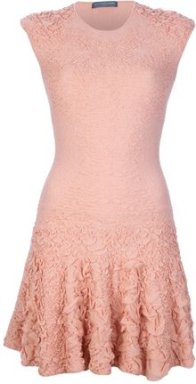 Alexander McQueen Engineered Knit Jacquard Dress - Lyst