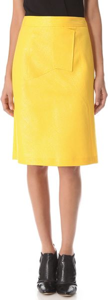 Derek Lam Graphic Seam Skirt - Lyst