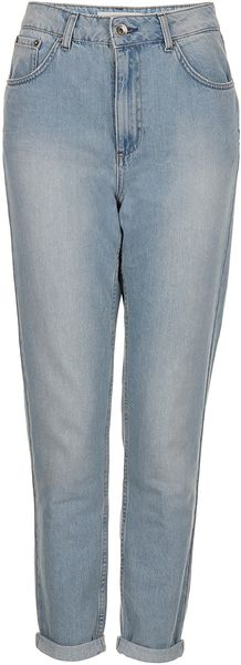 Moto Bleach Acid Kiri Mom Jeans - Lyst