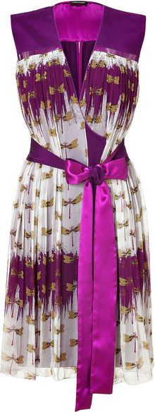 Sophie Theallet Deep Orchid Dragonfly Dress  - Lyst