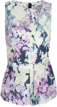 Erdem Jamelia Sleeveless Peplum Top - Lyst