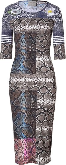 Preen Snake Print Stretch Jayne Dress - Lyst