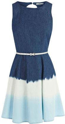 Oasis Ombre Skater Dress - Lyst