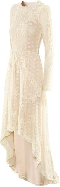 H&M Embroidered Dress - Lyst
